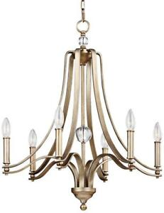 Murray Feiss Lighting F3075 6sg Evington Six Light Chandelier Sunset Gold Finish With