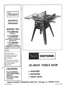 1983 Craftsman 113.298032 10