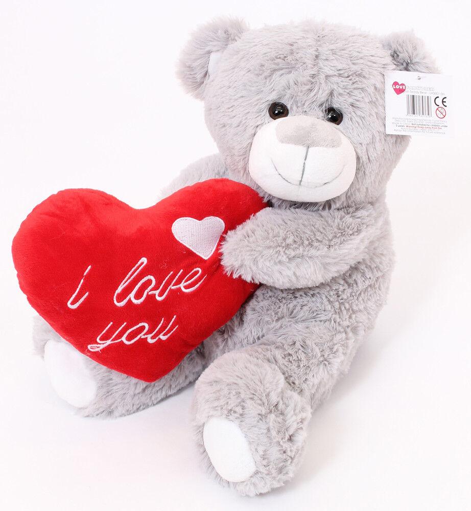 16 Large Grey Teddy Bear Valentines Day I Love You Plush Gift Boy Girlfriend 5060347857656 Ebay