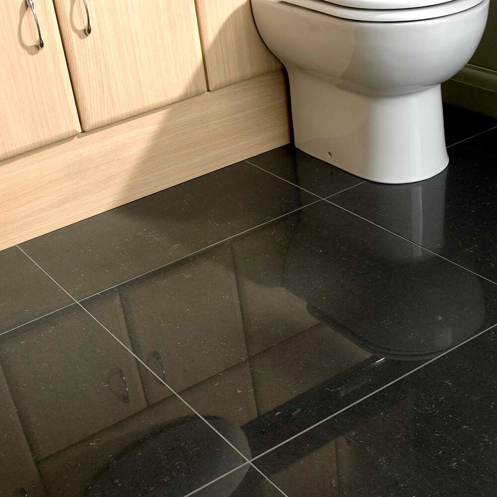 OL Lounge Polished BlackCharcoal 600x600x95mm Porcelain Floor Tiles 520 Sqm  eBay