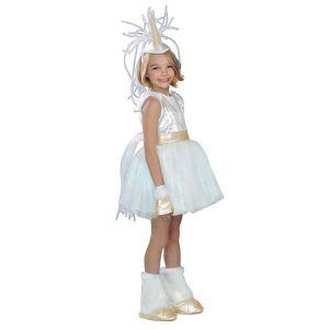 Girls White Unicorn Halloween Costume