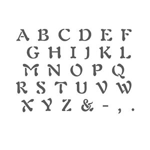 Alphabet Stencil Reusable Template for Wall Art Crafting