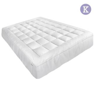 Luxury Mattress Topper Protector Pad Cover Pillowtop Memory Res