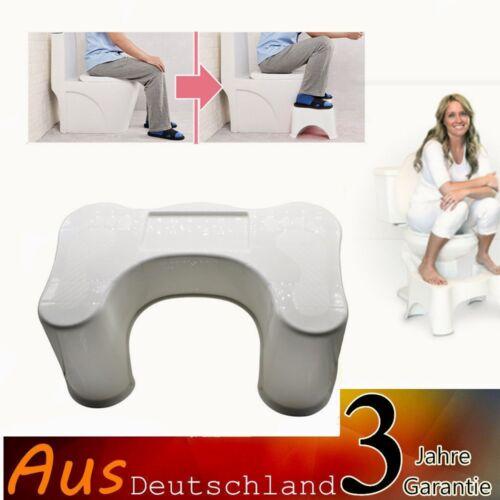 WC Toilettenhocker Toilettenhilfe Tritthocker Toilettenstuhl Thrittschemel Neu