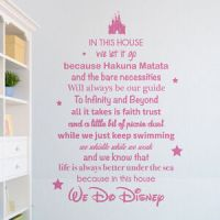 In this house we do Disney Wall Sticker - Vinyl Wall Art ...