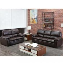 Set Of Leather Sofas Sleeper Sofa Miami Ebay Sectional Loveseat Contemporary Couch Seat