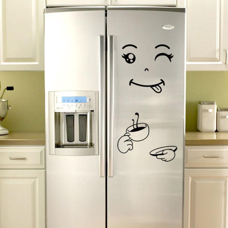 Kühlschrank-Aufkleber Happy Delicious Gesicht Küche Kühlschrank Wandaufkleber DE