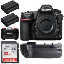 Nikon D850 45.7MP DSLR Camera Body + Battery Grip +32gb Top Accessory Bu...