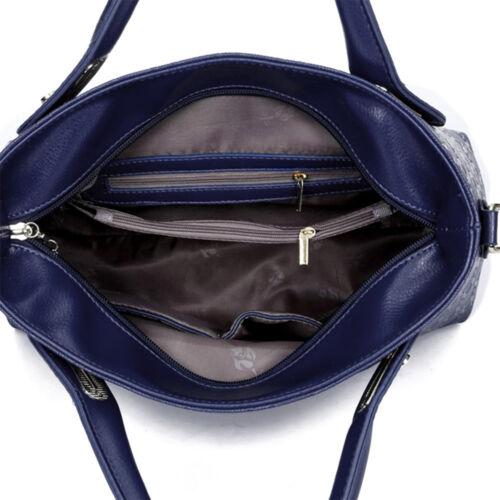 5Pcs/Set Women Lady Leather Handbags Messenger Shoulder Bags Tote Satchel Purse 5
