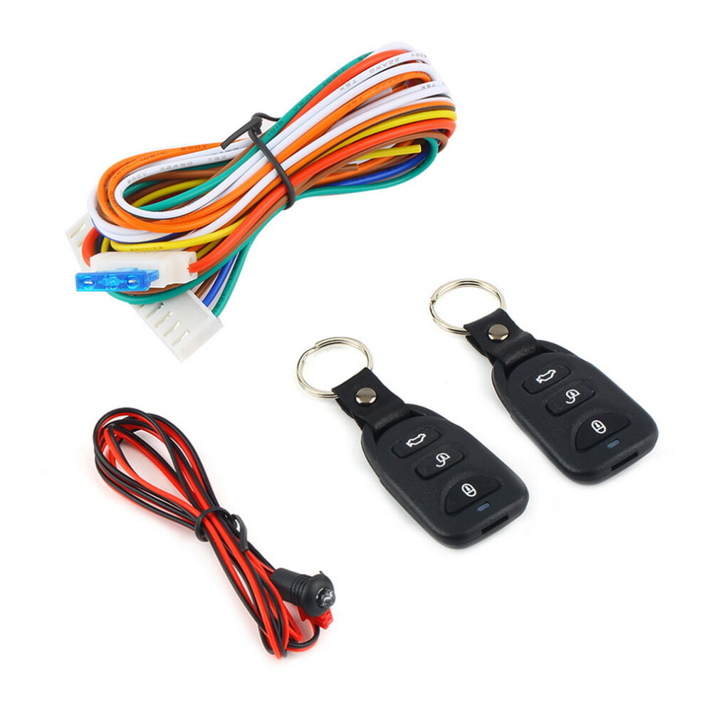 Car Alarm Remote Full Set Central Locking Kit 4 Doors Ebay