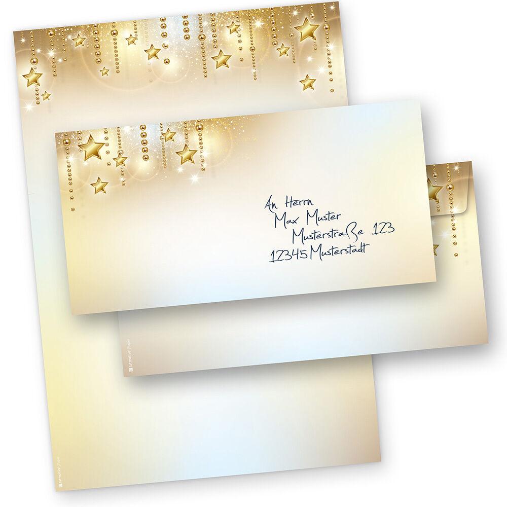 Weihnachtsbriefpapier STARDREAMS Briefpapier für Weihnachten geschäftlich