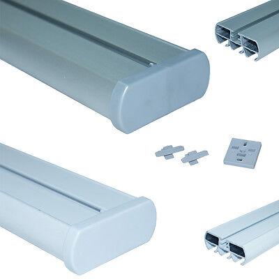 Gardinenschiene / Vorhangschiene 3 -läufig aus  Aluminium in weiß / alu - silber