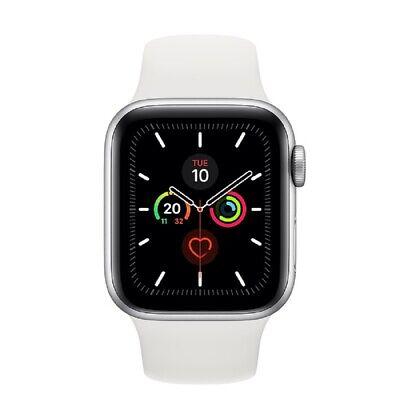 Apple Watch Series 5 GPS 40mm MWV62 Silver Aluminum Caja Blanca Sport Band