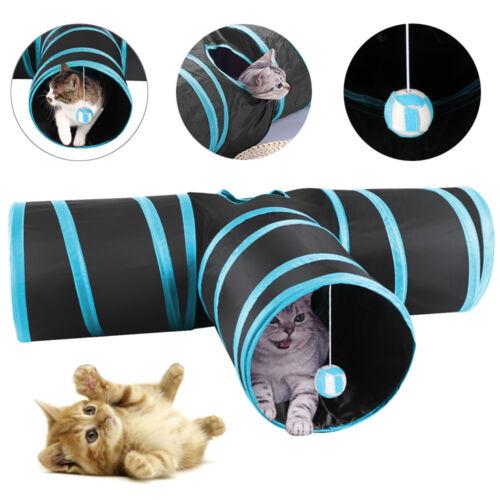 Katzentunnel Katzenspielzeug Katze Spielzeug 3 Wege Spieltunnel Faltbar Tunnel