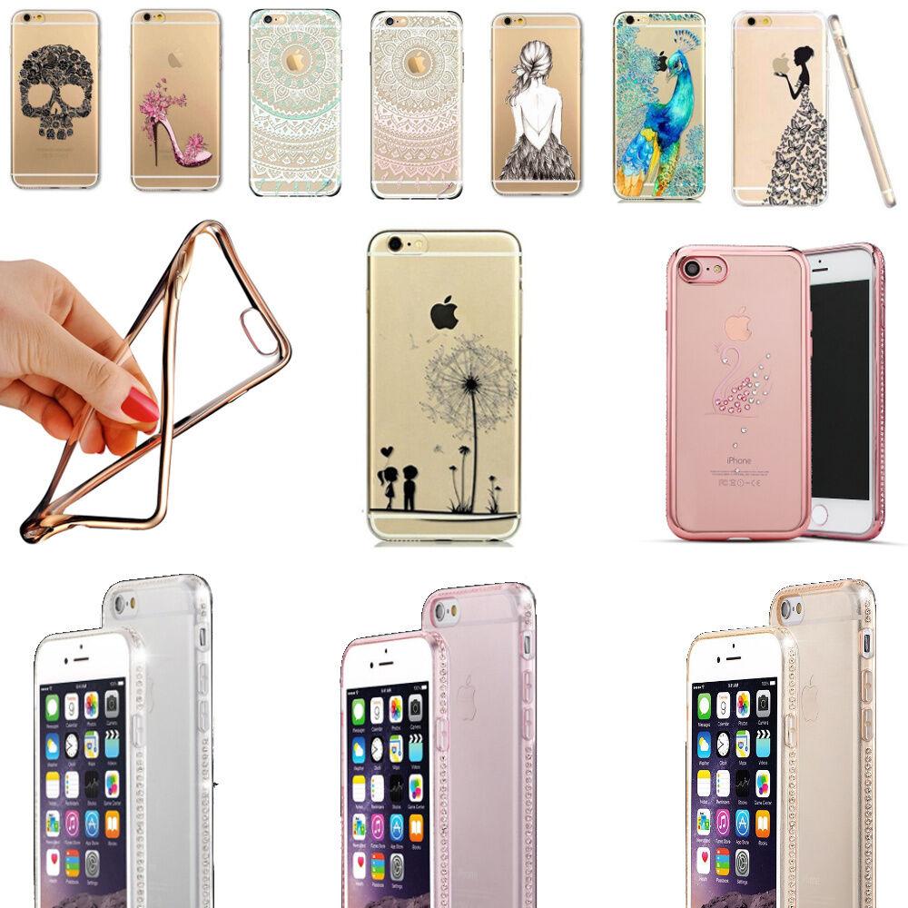 iPhone 8, 7 & 7 Plus 7+ Handy Hülle Schutzhülle Case Silikon + GLAS PANZERFOLIE