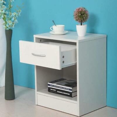 2 PCS Wood End Side Bedside Table Nightstand Bedroom w/Drawer 3