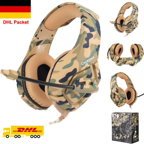 Gaming Kopfhörer PS4 Headset Camouflage für PC/iPad/Smartphone - Braun2