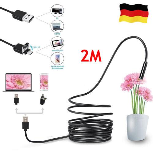 2M LED USB HD Inspektionskamera Endoskop Kamera 5,5mm IP67 Für Handy Android PC
