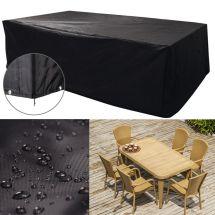 Waterproof Rectangular Black Garden Patio Furniture Cover