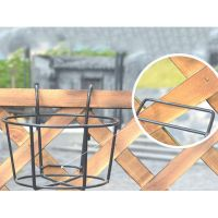 Balcony Garden Fence Metal Plant Pot Holders Easy Fill