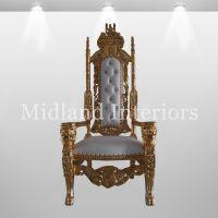 2 x NEW Lion King Throne Chair Gold leaf gilded Wedding ...