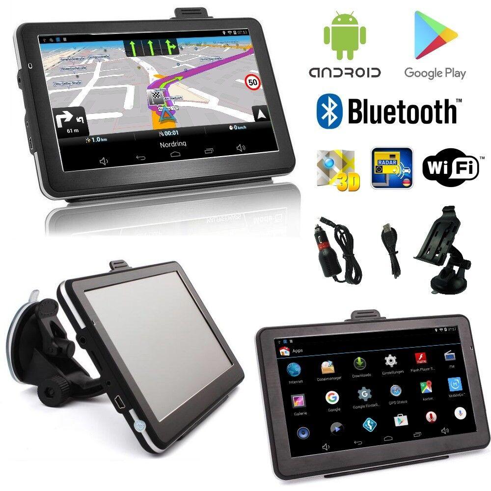 7 Zoll Android PKW LKW Navigationsgerät Navigation Europa Karten Bluetooth Wifi