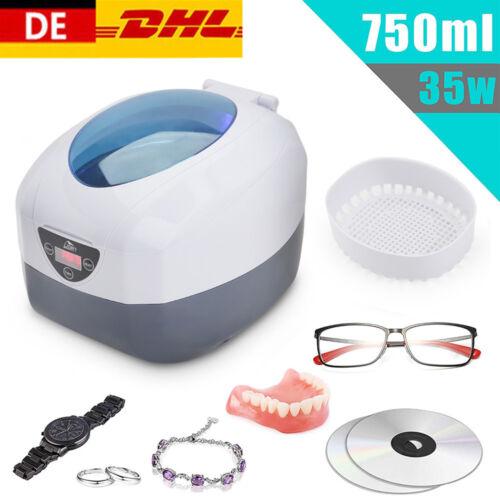 750ml Ultraschallreinigungsgerät Ultraschallreiniger Reiniger für Schmuck Brille