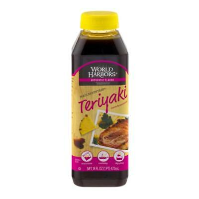 World Harbors-Teriyaki Sauce, Pack of 6 ( 16 oz bottles )