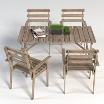 Askholmen Ikea Garden Furniture Set Table And 4 Chairs