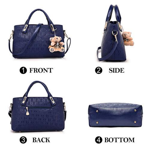 5Pcs/Set Women Lady Leather Handbags Messenger Shoulder Bags Tote Satchel Purse 1