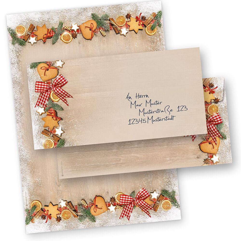 Weihnachtsbriefpapier LANDIDYLLE Briefpapier für Weihnachten Firmen geschäftlich