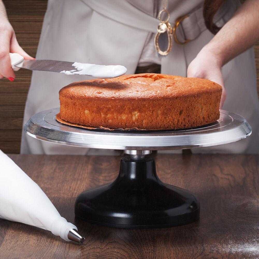 12 Rotating Revolving Cake Turntable Platform Decorating Stand Aluminium Alloy 6921761150848  eBay