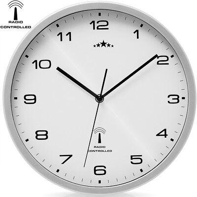 monzana® Wanduhr Funkuhr Quarz Funkwanduhr Analog Uhr Ø31cm  Zeitumstellung