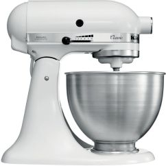 White Kitchen Aid Ninja Kitchenaid K45sswh 275w Mixer Ebay Stock Photo
