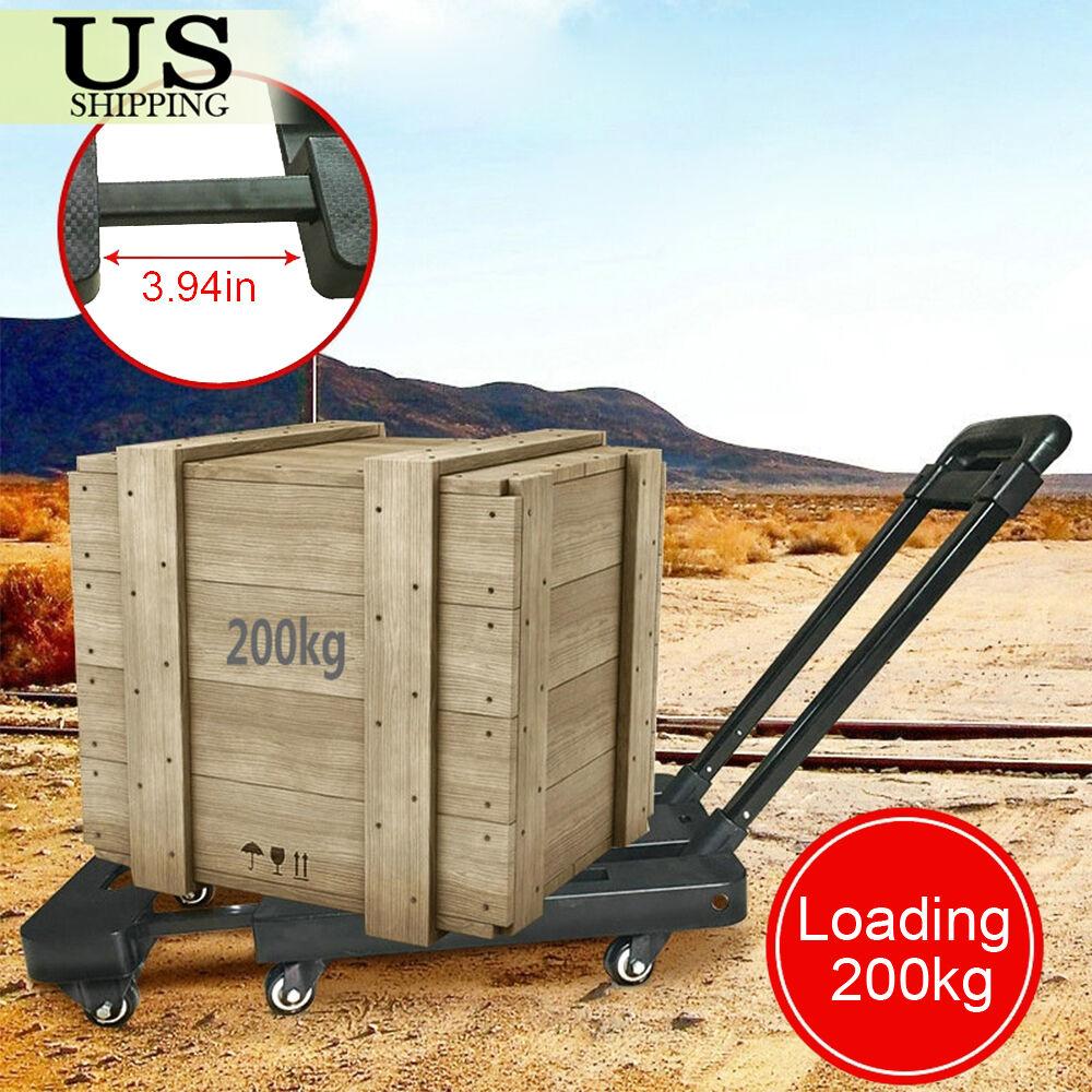 440lbs Platform Cart Dolly Folding Moving Luggage Hand Truck Trolley Heavy Duty 6940350800230