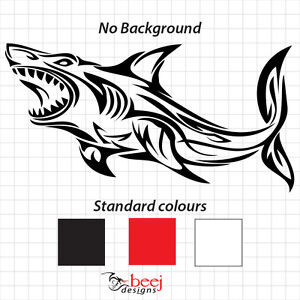 Shark Tribal Sticker Boat Decal Fishing Rod Line Lure