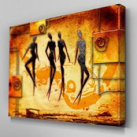 AB533 African Tribal Abstract Canvas Wall Art Ready to ...