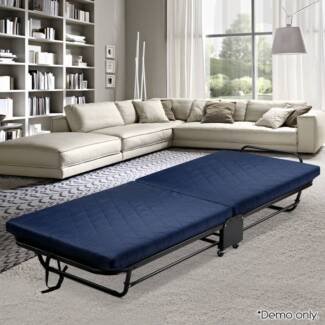 Folding Guest Bed With Mattress 193cm