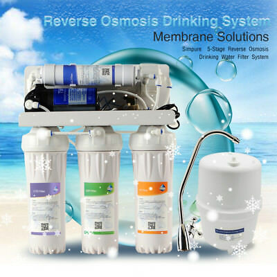 Water Purifier Machine Reverse Osmosis System Filtration-5 Stage Kitchen Home