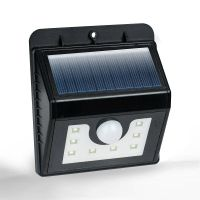 2x Motion Sensor Bright White 8 SMD Solar Powered Outdoor ...