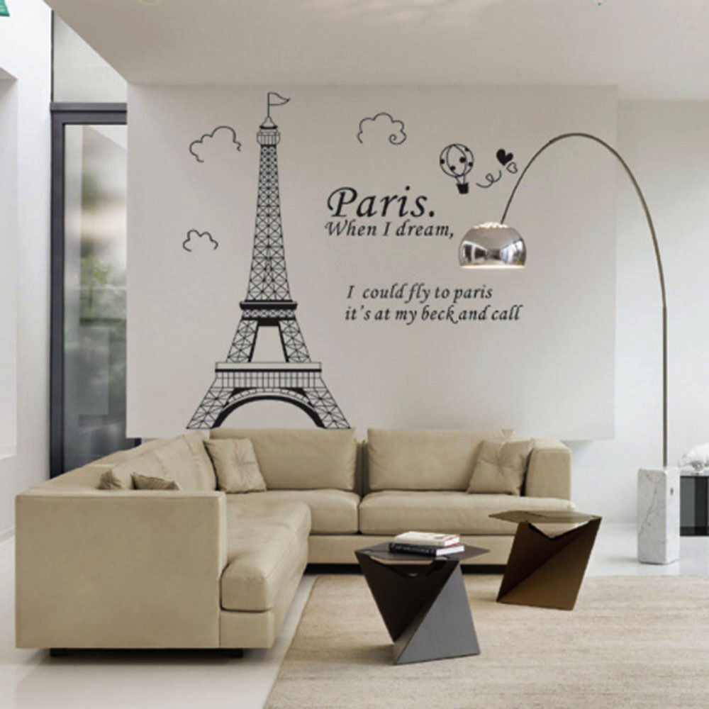 Large Paris Eiffel Tower Wall Sticker Art Vinyl Decal