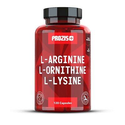Prozis L-Arginin-L-Ornithin L-Lysin 120 Kapseln Stickoxid Pump Muskelvolumen