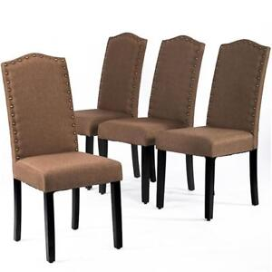 kitchen chairs wood swivel desk uk ebay dining armless room chair accent solid modern set of 4