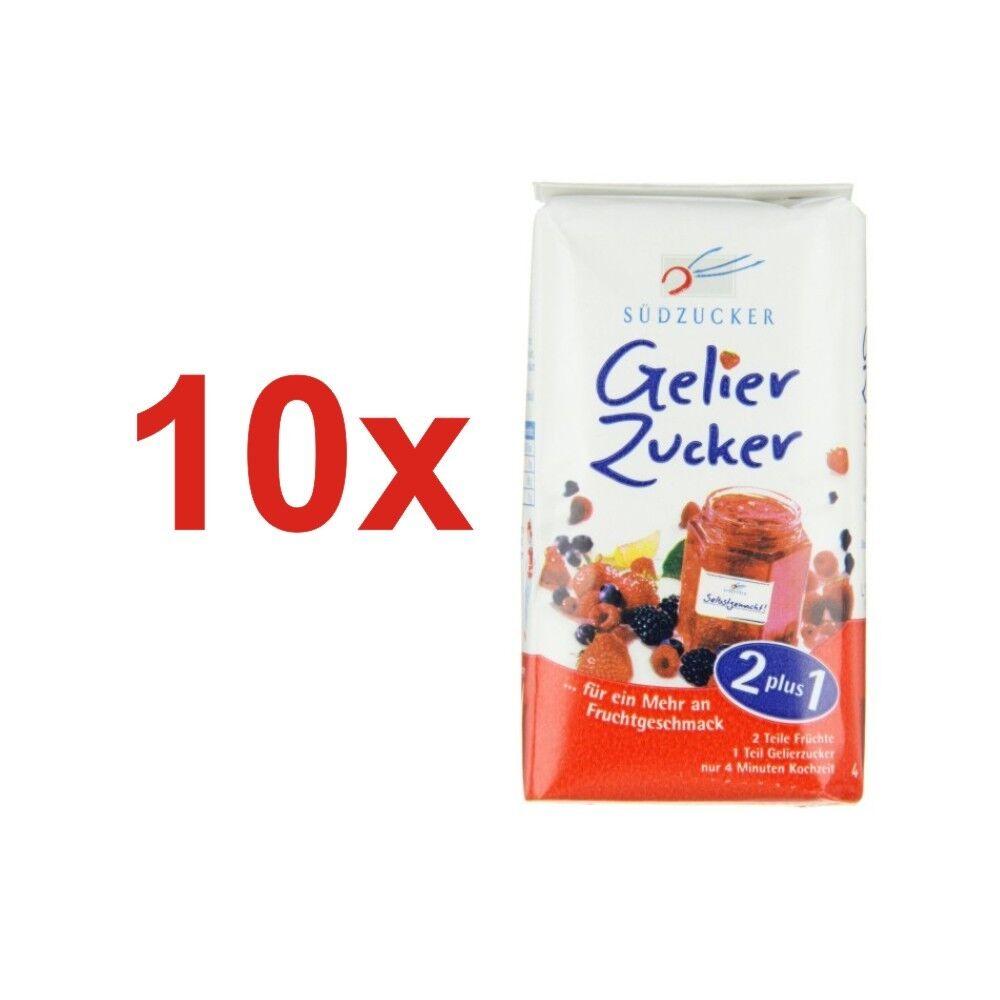 (2.10 Euro/1kg) Südzucker Gelierzucker 2plus1  10x500g