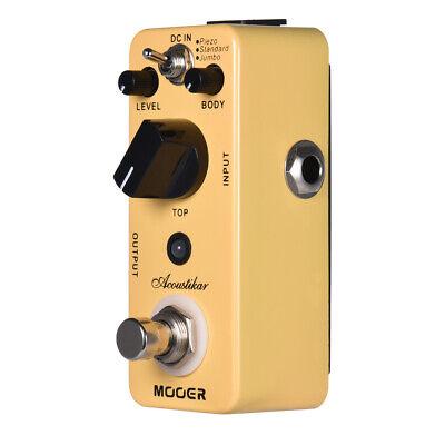 MOOER Acoustikar Acoustic Guitar Simulator Effect Pedal True Bypass 3 Modes Q0C4