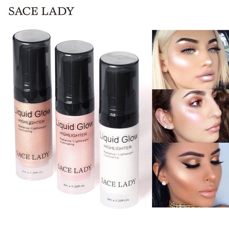 Gesicht Highlighter Cream Liquid Makeup Schimmer Glow Gesichtsaufheller Neu ves