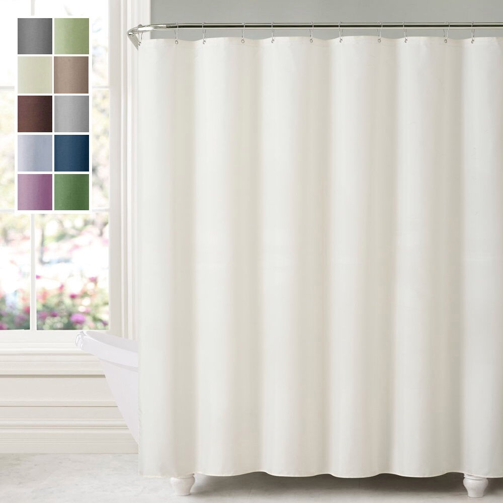 Water Repellent Shower Curtain Liner Mildew Resistant Polyester Bath Tub Liners  eBay