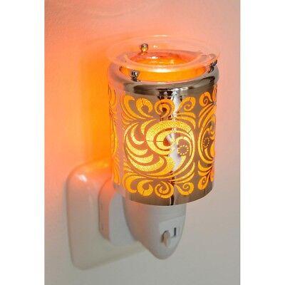 Elektrisches Nachtlicht, Duftlampe WAVE, ORNAMENTE, H 10.5cm, Ø 6cm, Pajoma