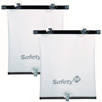 Safety 1st: 2x Sonnenschutzrollo weiss Auto-Seitenfenster Baby Kinder UV Schutz