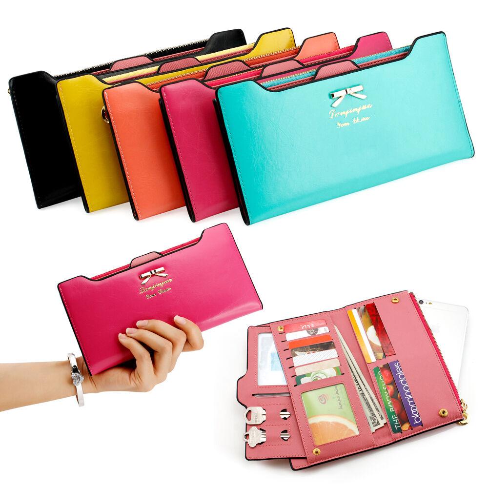 New Fashion Lady Women Leather Clutch Wallet Long Card Holder Case Purse Handbag  eBay